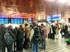 Vlaková kalamita na hlavním nádraží.