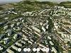 3D mapa Litoměřic: paneláky, kam se podíváš, a na okraji pád do bezedné...