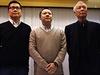 Zakladatelé hnutí Occupy Central: zleva Chan Kin-man, Benny Tai a Chu Yiu-ming.