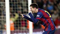 Lionel Messi oslavuje vstřelenou branku