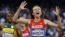 Ruská běžkyně Maria Savinovová.