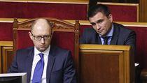 Ukrajinský premiér Arsenij Jace�uk (vlevo) s ministrem zahrani�í Pavlem... | na serveru Lidovky.cz | aktu�ln� zpr�vy