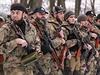 Proruští separatisté z Čečenska, kteří bojují ve východoukrajinském Doněcku.