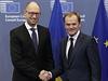 Finanční pomoc potřebovala Ukrajina už včera, řekl v Bruselu Jaceňuk