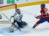 Český útočník Tomáš Plekanec nasměroval Montreal v úterním utkání NHL gólem ze...