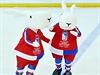 Bob a Bobek, maskoti pražského mistrovství světa.