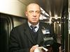 Poslední cesta rychlíku Excelsior. Na snímku je vlakvedoucí Ludvík Dvořák.