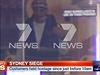 Ozbrojený útočník na záběrech australské stanice Channel 7.