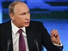 Tisková konference Vladimira Putina.