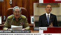 V�dci v televizn�m vys�l�n�. Americk� prezident Barack Obama (vpravo) se...