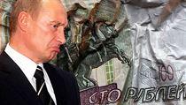 Rusk� rubl je v t�k�ch probl�mech.