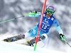Šárka Strachová mezi slalomovými brankami.