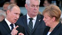 Prezident Milo� Zeman ve spole�nosti n�mecké kanclé�ky Angely Merkelové a... | na serveru Lidovky.cz | aktu�ln� zpr�vy