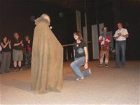 Parcon 2006, fantasyshow - Lívia Hlavačková dostává meč