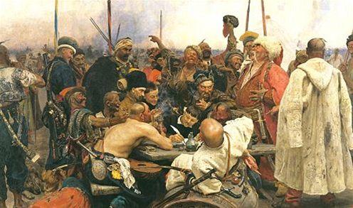 Ilja Jefimovi� Repin - Z�poro��t� koz�ci p�� dopis tureck�mu sult�novi