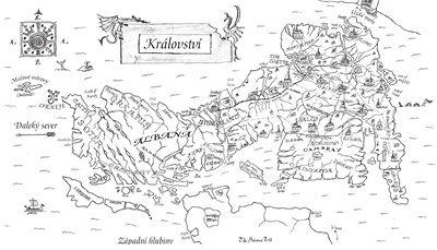 B�l� pl Robert Carter mapa Kr�lovstv�