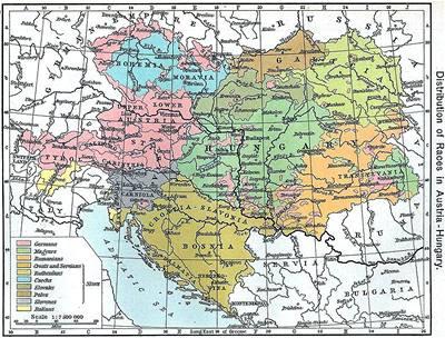 6. A o tom, kde žili Slováci v Uhersku svědčí mapa R-U