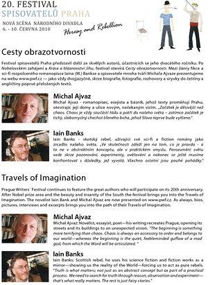 Festival spisovatelů Praha Michal  Ajvaz Iain Banks