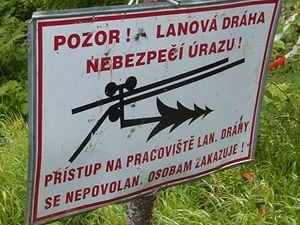 informace - v blízkosti jezera Laka
