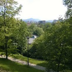 Landsberger�v park pod z�meck�mi terasami