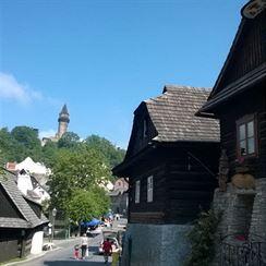 Typické roubené domy ve Štramberku