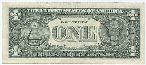 US jednodolarová bankovka, zdroj internet