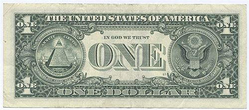 US jednodolarov� bankovka, zdroj internet