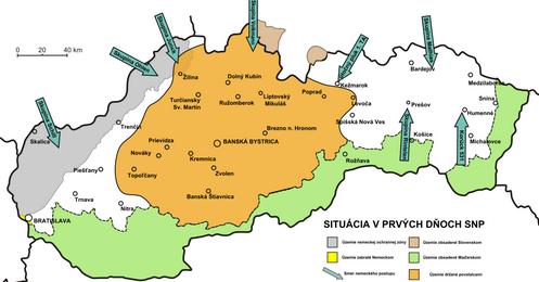 SNP mapa