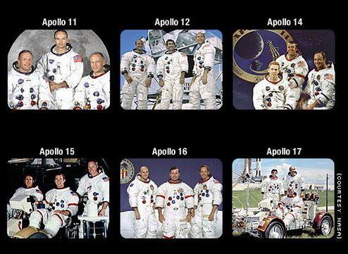 Apollo Moon landings crews