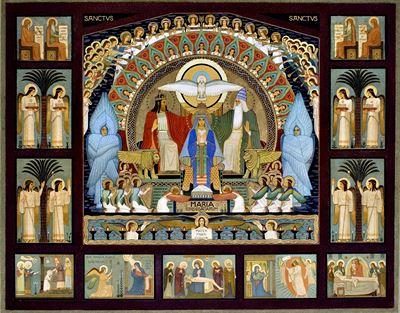 Desiderius Lenz - návrh fresky pro klášter sv. Gabriela