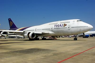Boeing 747-4D7 HS-TGN Thai Airways Int