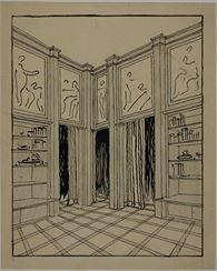 Plečnik- Prelovšekův byt, skica 1