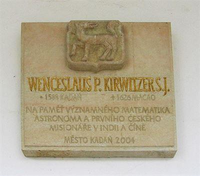 Kirwitzerova pamětní deska v Kadani